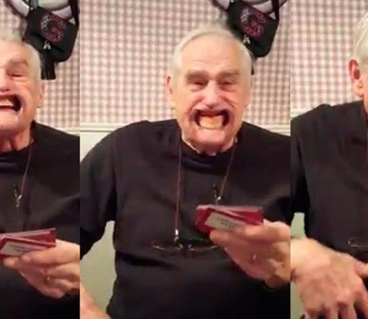 Abuelo pierde dentaduras